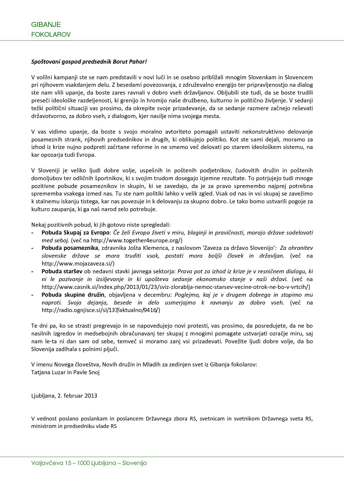 Pismo Pahor 2-2-2013